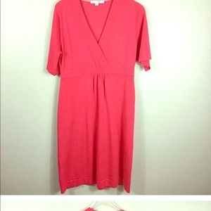 Boden coral faux wrap dress size 10